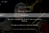 """What goes on in a question-answer pair like this: """"What's your name? I don't haveone."""""""